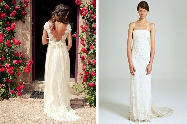 Vestido novia recto http://elblogdemariajose.com/tipos-de-vestidos-de-novia/ #bodas #elblogdemariajose #vestidosdenovia