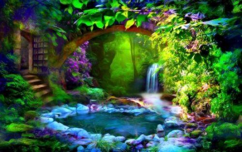 The Secret Garden - Garden, Magical, Magic, Pond ...