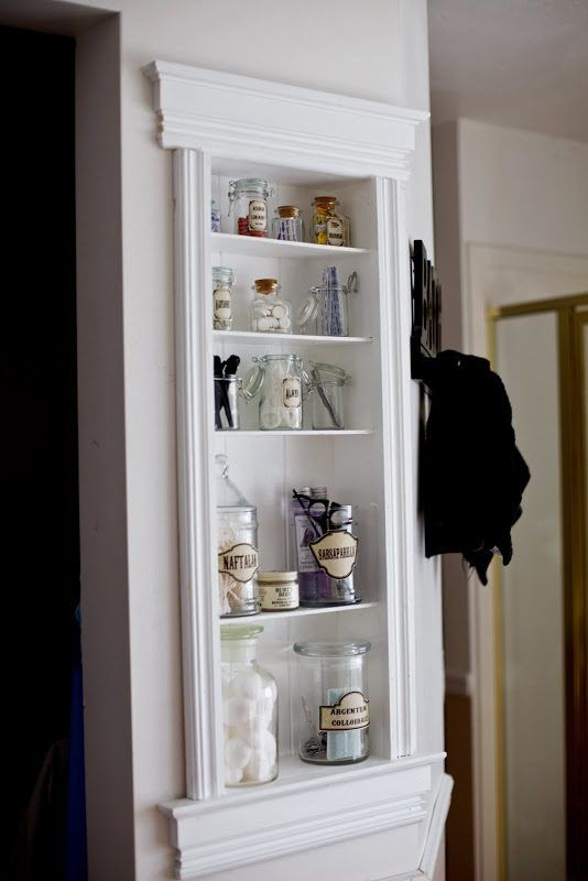 Use Recessed Shelving In The Bathroom To Store Toiletries In A Decorative  Way.