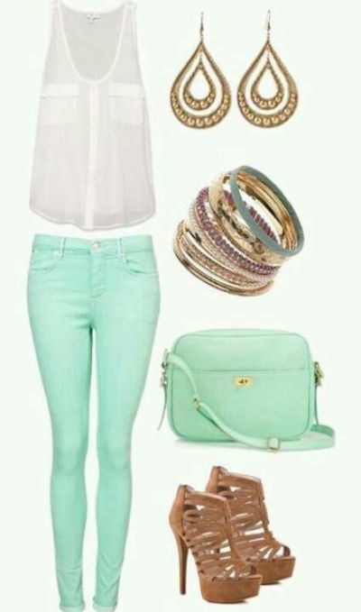 I have turquoise pants. But I REALLY want a pair of mint colored pants!!!! <3