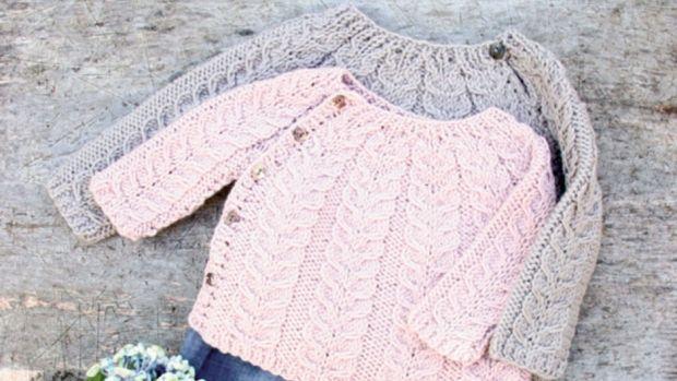 Strik en nuttet snoningstrøje til de mindste | Femina. 0 month to 2 years