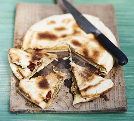 A pizza and pie in one to make a delicious lunchtime treat or daytime snack