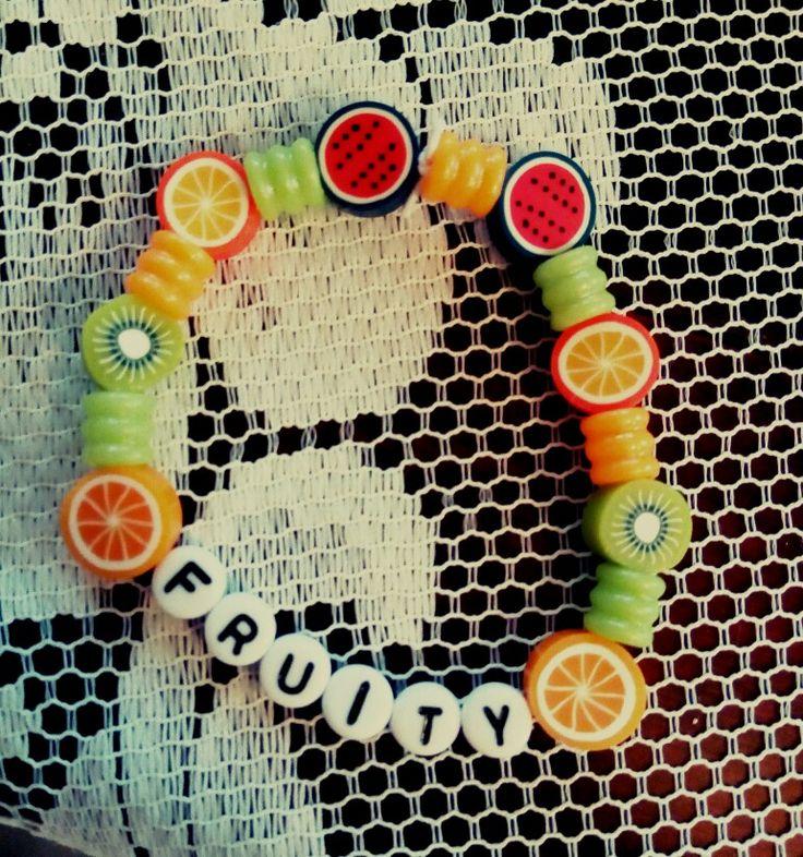Fruit kandi bracelet