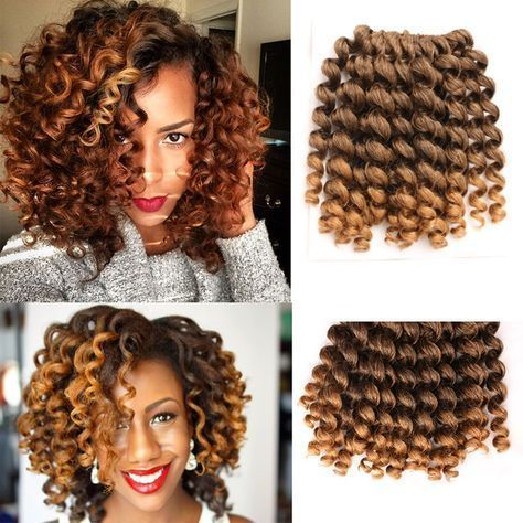 The 25 best crochet hair extensions ideas on pinterest natural 8 10 inch wand curl crochet hair extensions ombre kinky twist hair crotchet braids synthetic pmusecretfo Image collections