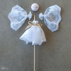 How to make vintage angel ornaments - a simple tutorial