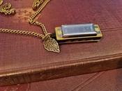 """Cinder & Sage """"Sage Harp"""" Necklace"""