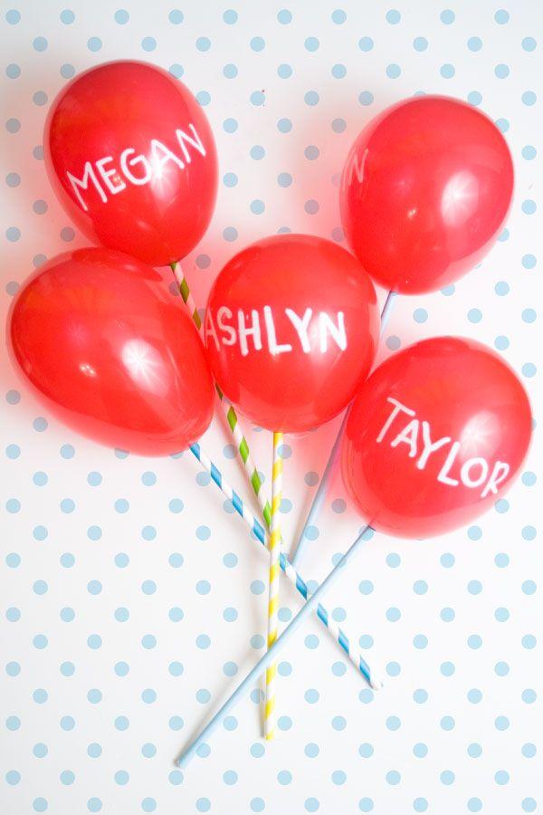 ADORABLE!  DIY Red Balloon Cupcake Topper -