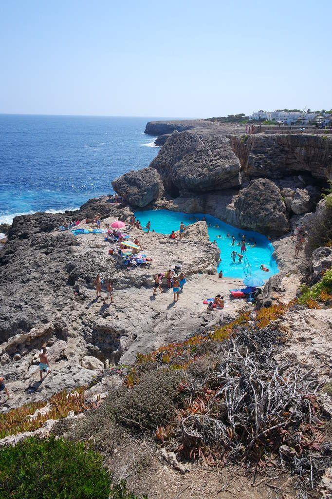 La piscine naturelle Las Rocas à Cala d'Or woww !