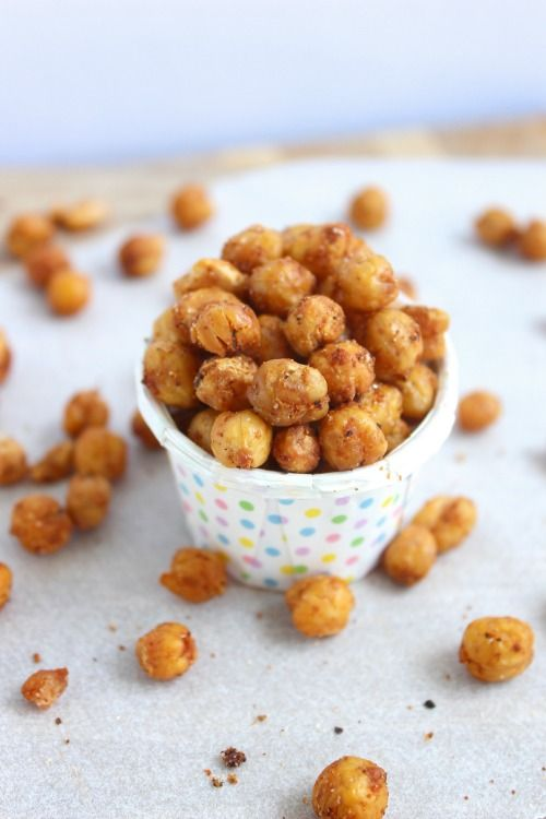 Oven Roasted Chickpeas... this is my jumping off point with roasted chickpeas. just made a batch with salt and pepper only and my little one helped me eat them all. :)