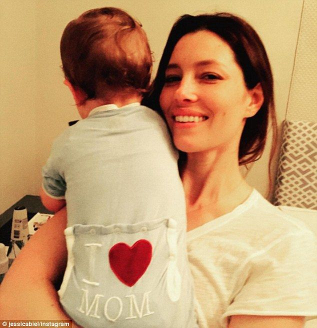 Now I know: Jessica Biel shared rare snap with baby Silas on Mother's Day, and admitted sh...
