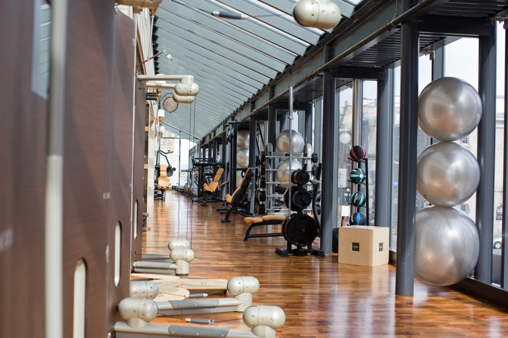 Soma Health and Fitness - relaxed gym with spa atmosphere  The steel, wood and glass are nice