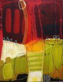 Farverige og abstrakte malerier af Janne Jacobsen, Brønderslev. Billedkunst i smukke farver til at pryde din væg. Kontakt Janne på tlf. 21 46 76 96