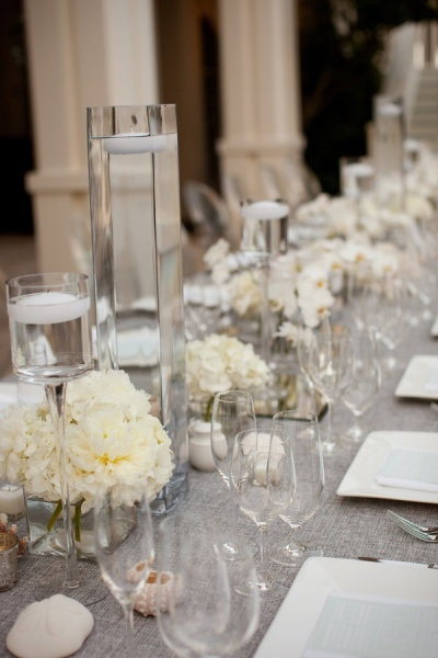 Long table centerpieces wedding pinterest for Long table centerpieces