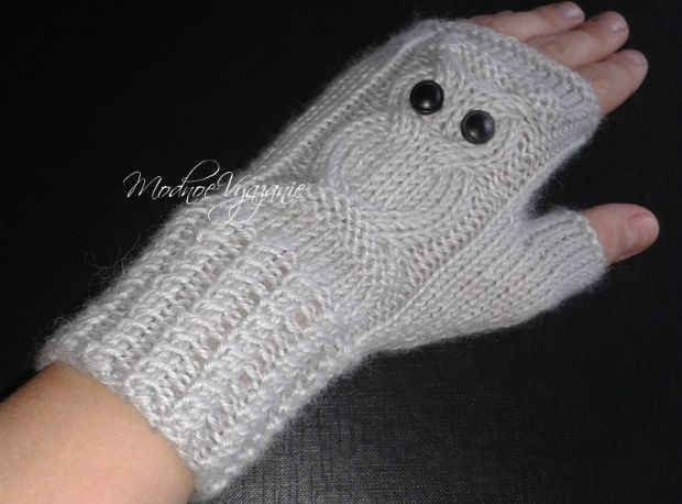 Митенки с совами - Модное вязание