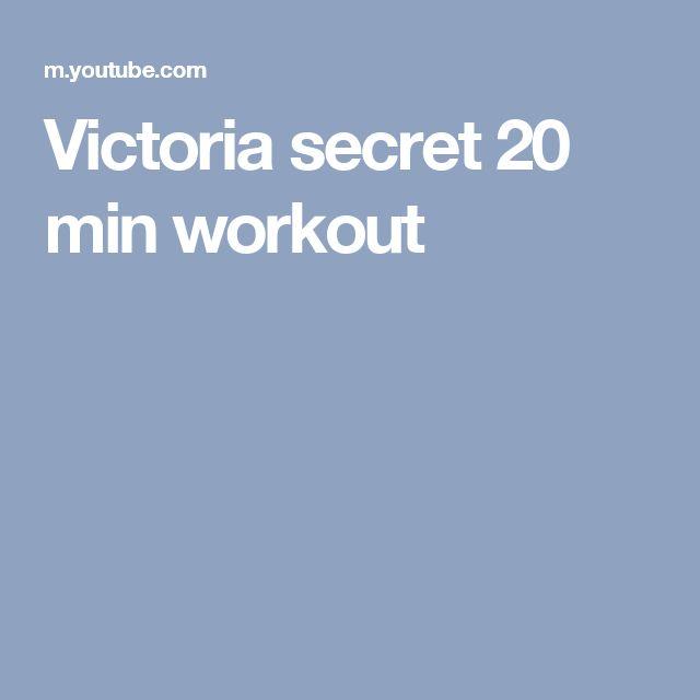 Victoria secret 20 min workout