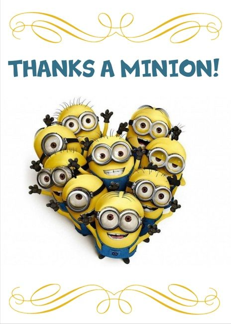 Thanks a Minion. Great thank you card for kids, friends and family. Be grateful and send this card today. Send a card for $1.98 when sharing from Sendcere.com.