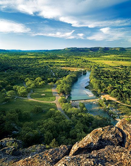 A beautiful view of the Frio River at Garner State Park in Concan, Texas. (Photo © Laurence Parent)