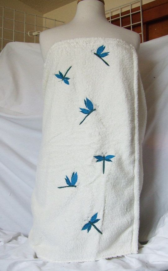 Dragonflies Towel Wrap Terry Bath Towel. by forgetmeknottreasure.etsy.com