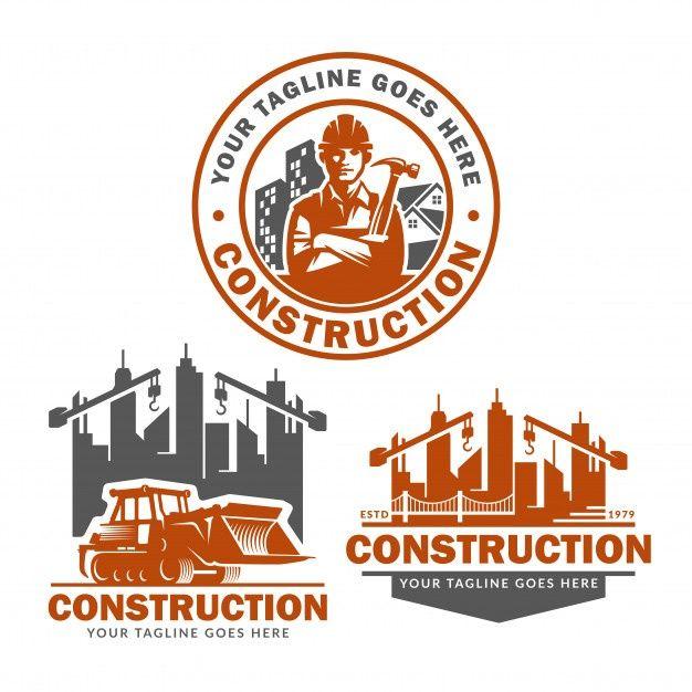 Construction Logo Template Set Vector Pack Of Construction Logo Construction Logo Logo Templates Geometric Logo