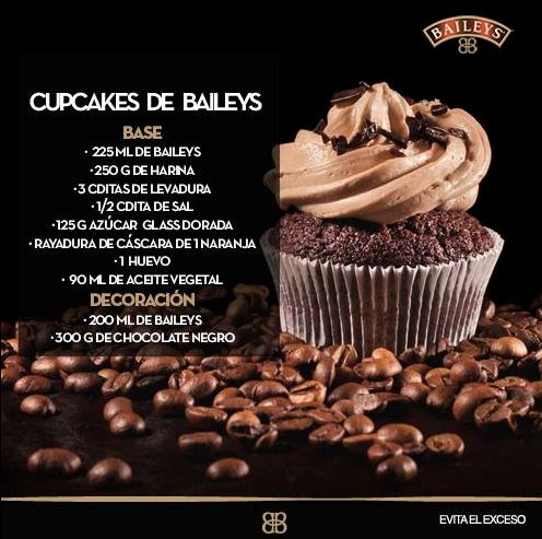 #RecetaBaileys ¡Aprende a cocinar cupcakes de Baileys!