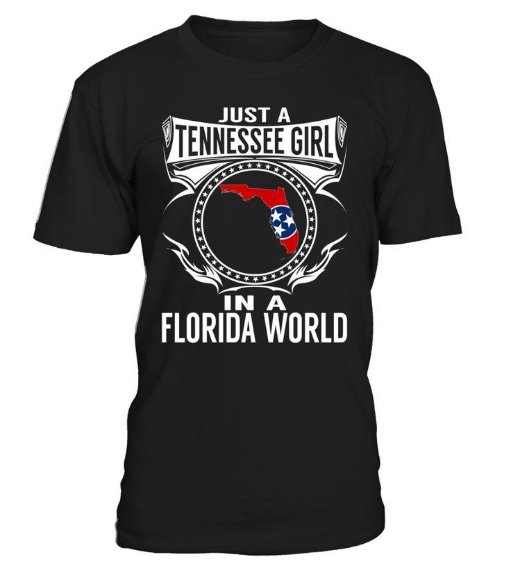 Tennessee Girl in a Florida World State T-Shirt #TennesseeGirl