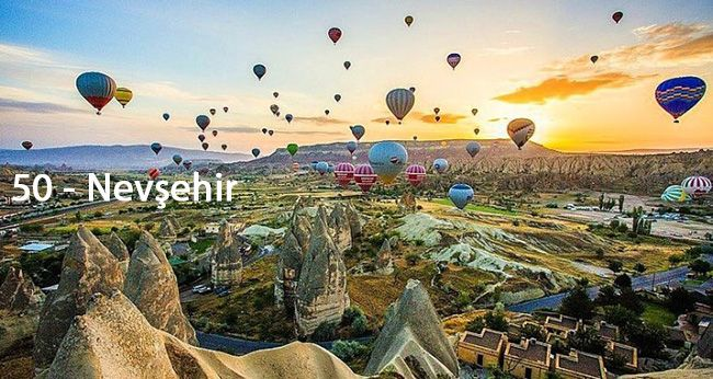 33 Plaka Mersin (İçel), 37 Plaka Kastamonu, 48 Plaka Muğla, 50 Plaka Nevşehir, 54 Plaka Sakarya, 78 Plaka Karabük http://www.plakalar.gen.tr/ 50-plaka/