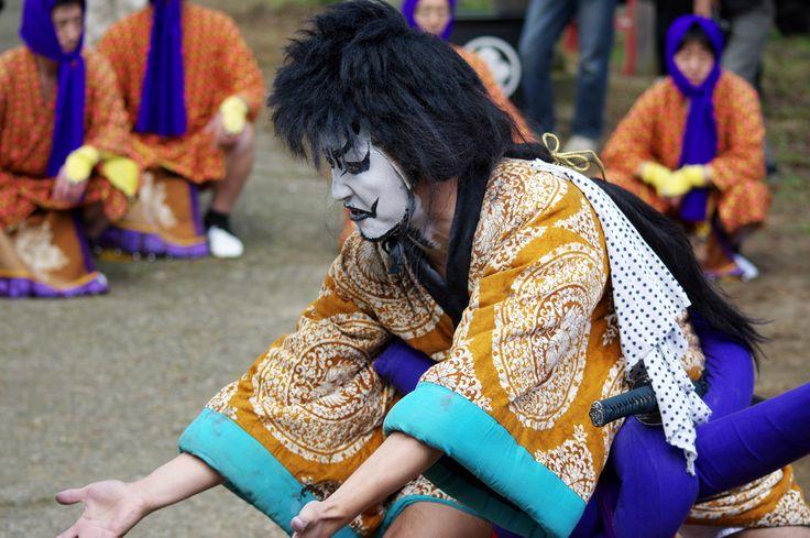 10 Akita Hachirogata town Gannin Dance Japan 2015 2015年5月5日 八郎潟町 一日市神社 大人願人踊り