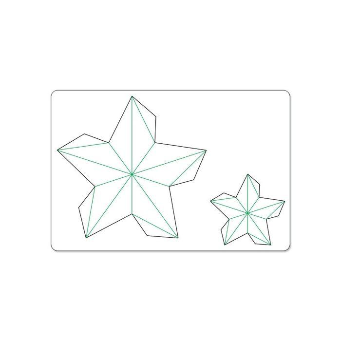 Звезда шаблон для открытки, марта техники