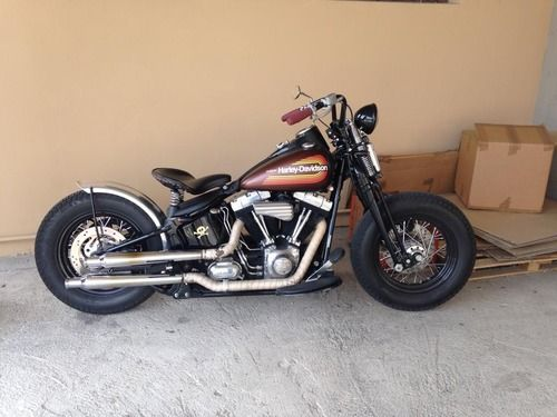 Bobber Inspiration | '09 Harley Cross bones bobber by Fabio from... | June 2014