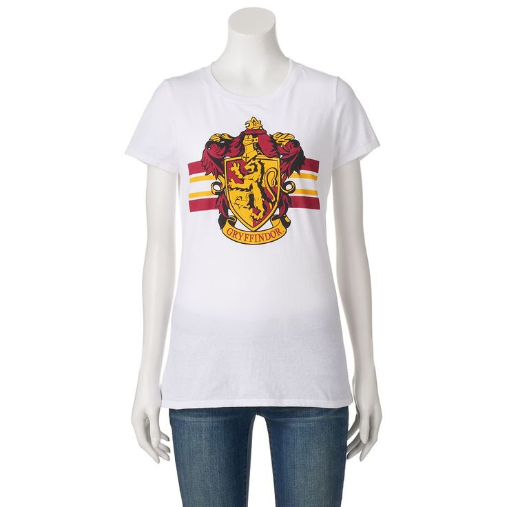 Juniors' Harry Potter Gryffindor Crest Graphic Tee, Teens, Size: Medium, White
