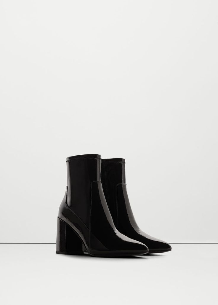 Patent sock boots - Shoes for Woman | MANGO USA