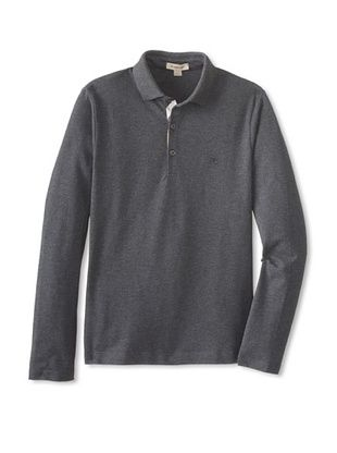 40% OFF Burberry Kid's Long Sleeve Polo (Check)