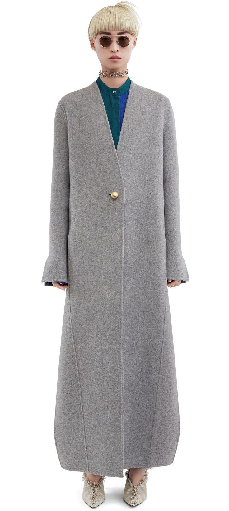 ACNE STUDIOS Valda Doublé Grey Melange. #acnestudios #cloth #coats-jackets