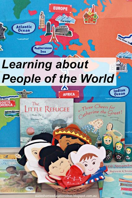 Suzie's Home Education Ideas: Learning about People of the World
