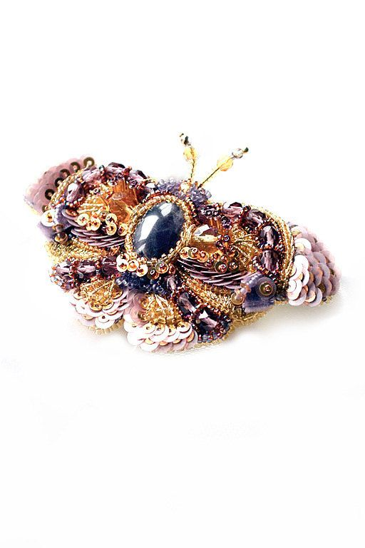 Amethyst  Butterfly brooch. Purple insect par PurePearlBoutique