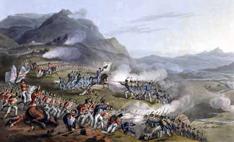 Battle of Busaco - 27th September 1810. Wellington made a stand on the defendable Busaco ridge with 51,000 British/Portuguese against Marshal Massena with 65,000 men. The French were unsuccessful in their attempts to storm the ridge and eventually retired enabling Wellington to withdraw to the Lines Of Torres Vedras as planned.
