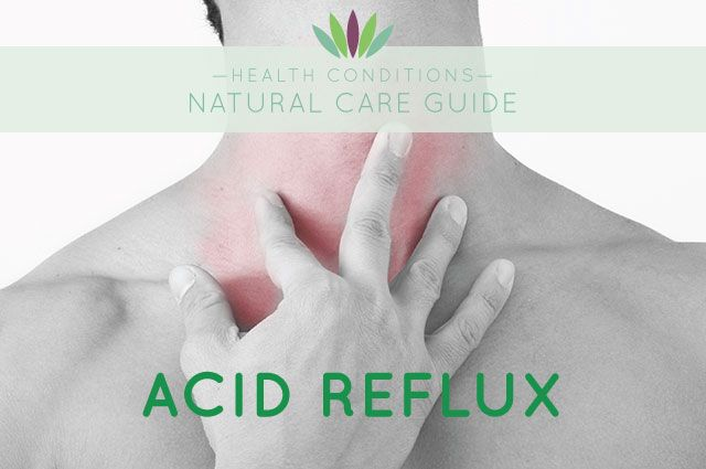 Natural treatment for Acid Reflux. Acid reflux is a condition in which stomach acid flows up the esophagus causing heartburn. Acid reflux that occurs more than twice a week is called gastroesophageal reflux disease (GERD). This is a more serious condition that, left untreated, can lead to problems such as inflammation of the esophagus, scarring, ulceration, inflammation, hemorrhaging, and even esophageal cancer. Read more >