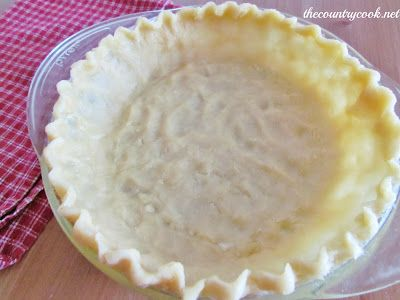 Wham Bam Pie Crust - Super simple pie crust!!!  No cutting in butter, super chilled water or rolling it out!!   Just mix it up & press it into the pan!!  {The Country Cook}