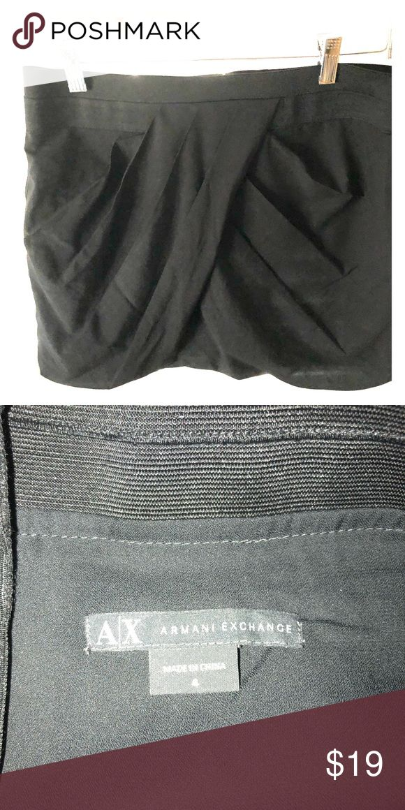 """Armani exchange pleated mini skirt Gorgeous flattering Armani Exchange mini skirt. Pleated in the front to give a bit of the """"bubble skirt"""" effect. A/X Armani Exchange Skirts Mini"""