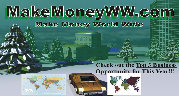Make Money world wide image for Top Business Opportunities in 2016...  http://www.makemoneyww.com