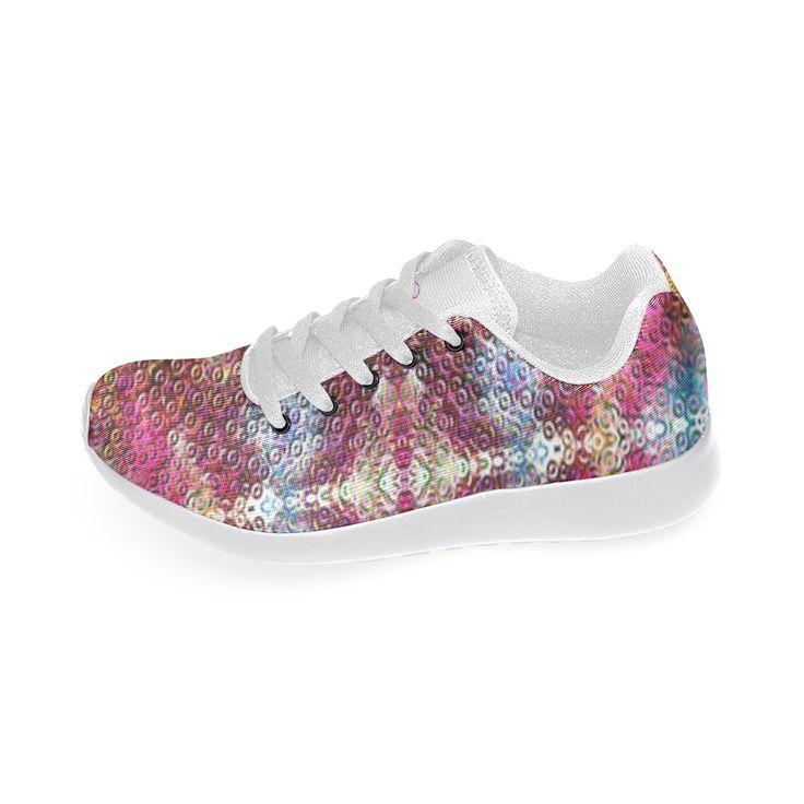 Running shoes-dazzling pattern-Annabellerockz Custom Brand New Running Shoes for Women