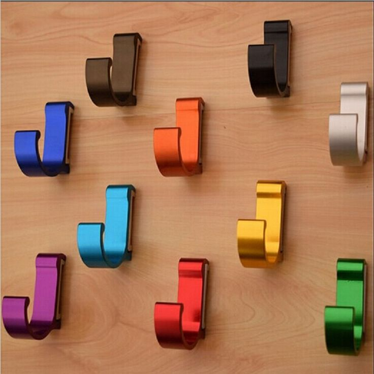 Find More Robe Hooks Information about 9 Colors New Space Aluminum Metal  Robe Hooks Unique Modern Wall Coat Hooks