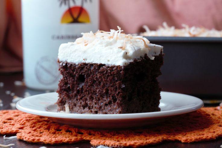 Chocolate Coconut Malibu Rum Cake