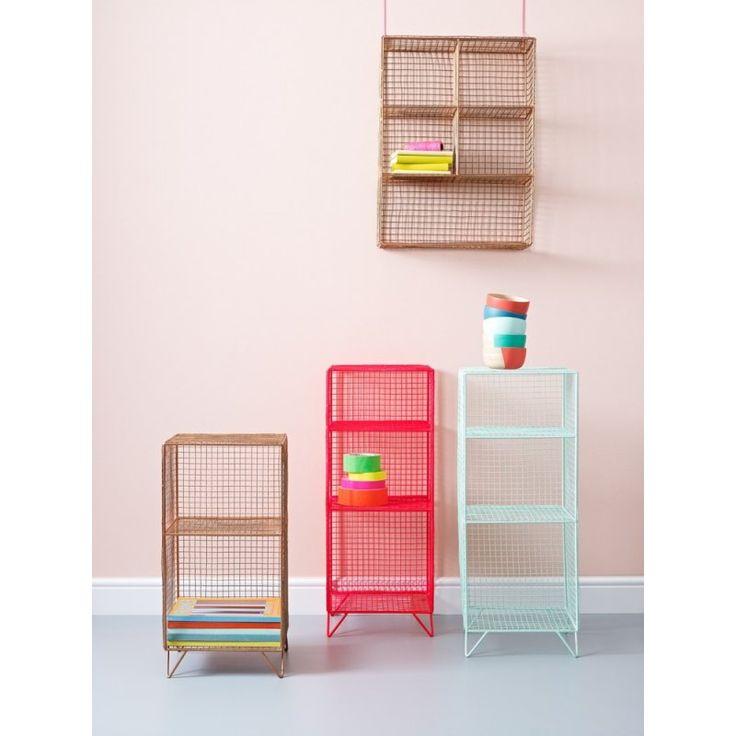 Grid Three Shelf Storage Unit | Grid | Oliver Bonas