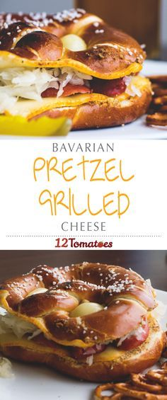 Bavarian Pretzel Grilled Cheese | This grilled cheese is one of the most fun and interesting meals we've made in a while… give it a try, we bet you'll agree!