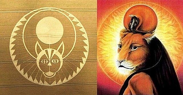 Il Cerchio nel grano di MADRE SEKHMET nel Regno Unito il 22 luglio 2016. - La nuova umanità