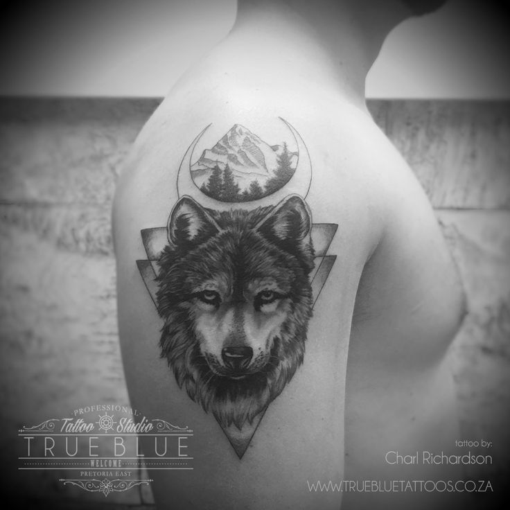 """The Wolf"" by Charl Richardson of True Blue Professional Tattoo Studio"