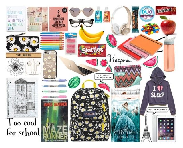 """""""What's in my backpack?"""" by blazingburns ❤ liked on Polyvore"""