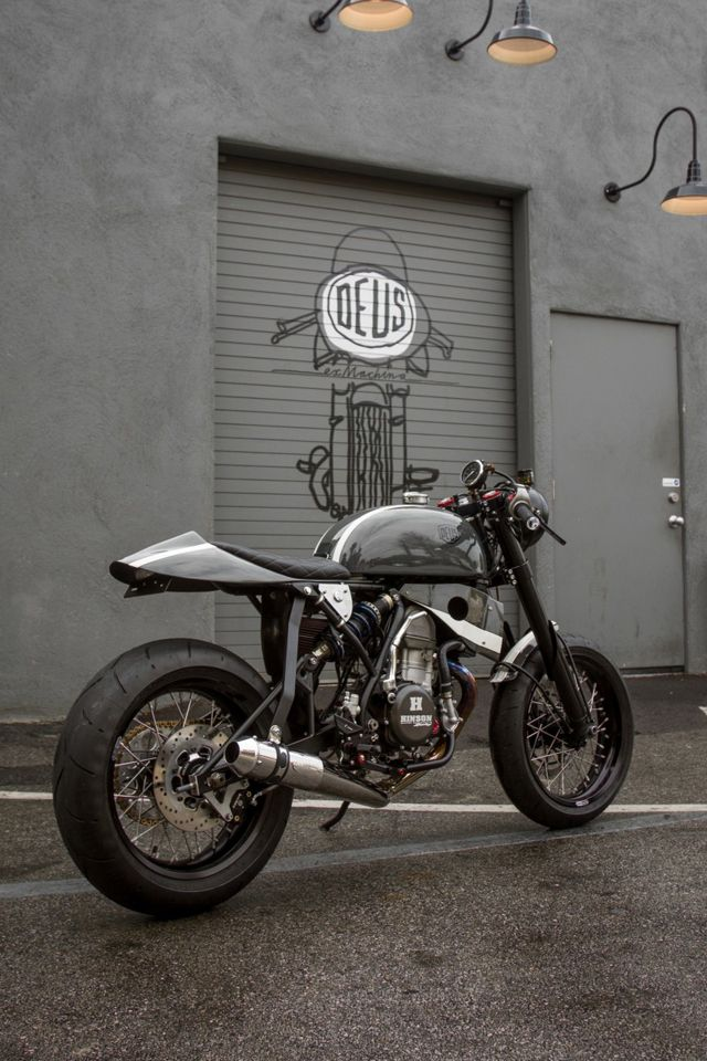 "CRF450 powered and built by Deus Ex Machina's US Motorcycle Design Director, Michael ""Woolie"" Woolaway. Deus Ex Machina"