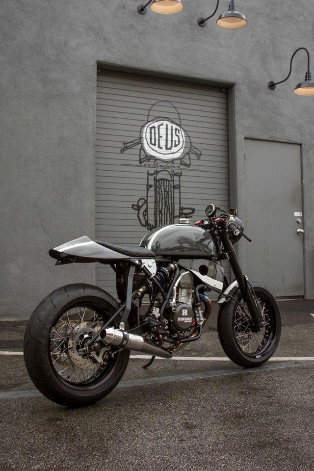 "CRF450 powered and built by Deus Ex Machina's US Motorcycle Design Director, Michael ""Woolie"" Woolaway. Deus Ex Machina"